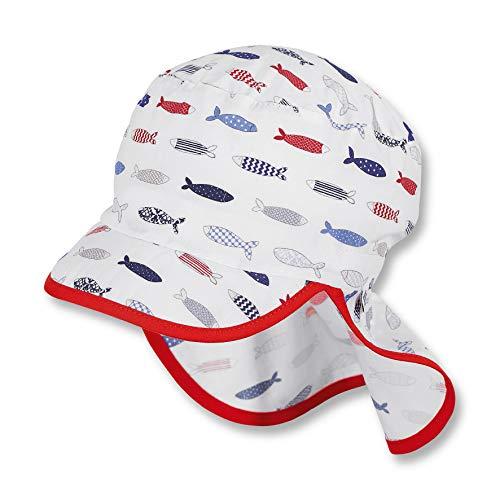 Sterntaler Schirmmütze für Jungen mit Nackenschutz, Alter: 9-12 Monate, Größe: 47, Weiß