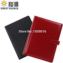 File Folder | Great Source Leather A4 Manager File Portfolio Compendium 4 Rings Binder Document Folder with Calculator | by BLUMECA