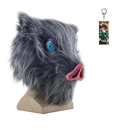 Mascarilla de cosplay de Slayer Kitsune, mscara de demonio, mscara de asesino de demonio, disfraz de cosplay japons anime fotografa accesorios de juguete (Inosuke C)