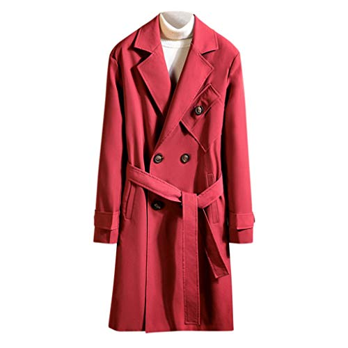 Buy Bargain Letdown_Men Hoodies Men Pea Coat Slim Fit Winter Warm Solid Windbreaker Business Suits J...