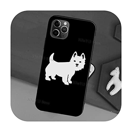 West Highland Terrier Westie Schutzhülle für iPhone 11 12 Pro Max Mini SE 2020 6S 8 7 Plus X XR XS Max Back Cover Shell-2335-For iPhone SE 2020
