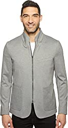 Kenneth Cole New York Mens Zip Front Knit Blazer