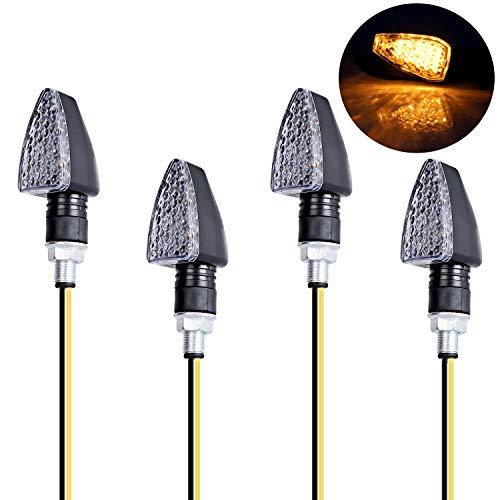 Yizhet 4PCS Motorrad 15 LEDs Blinker Indikatoren Bernstein Drehen Licht 12V Mini Blinker Wasserdicht für Motorrad
