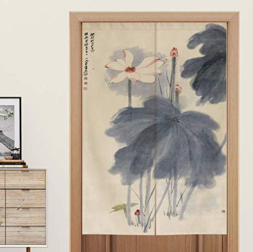 Cortina de Puerta de Feng Shui Chino Sala de Estar Dormitorio Baño Aseo Cocina Media Cortina Cortina Japonesa - 90 * 150cm