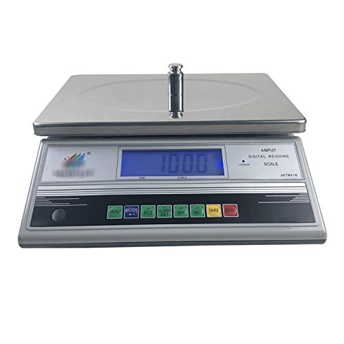 LICHUXIN Alta precisión Contando Báscula 0.1g electrónica Peso Balanza Dedicado Escala sobremesa Pantalla LCD Digital Escala Comercial for pesaje exprés Postal Frutas y Verduras (Size : 30kg/1g)