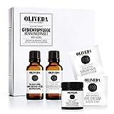 Oliveda Gesichtspflege Kennenlern-Set - Naturkosmetik mit Gesichtsserum, Gesichtscreme, Augencreme, Reinigungsgel und Mundziehöl