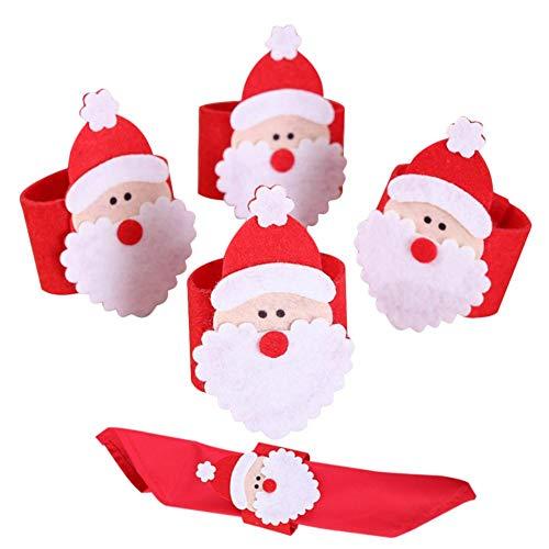 Ingeniously Santa Claus - Servilletero (4 unidades), diseño de Papá Noel
