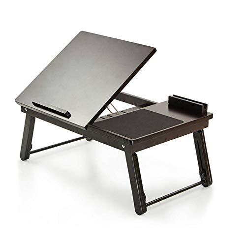 YIJIAHUI Soporte plegable para mesa de ordenador con alfombrilla de ratón integrada para camping, fiesta, picnic, escritorio plegable pequeño, ligero, portátil y resistente