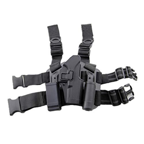 WISEONUS Pistoleras Airsoft Tactical Pistola Derecha Estuche de la Funda de la Pata de la Pierna Estuche de la Bolsa de la antorcha para Glock 17 19 22 23 31 32