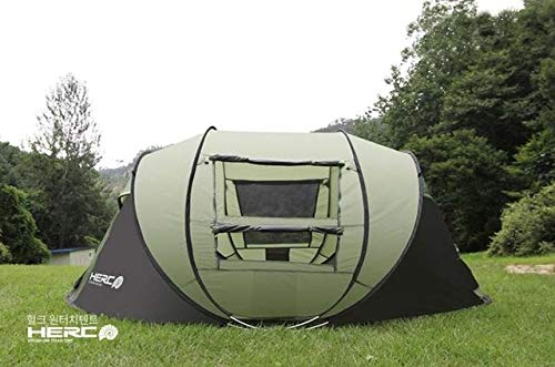 Mdsfe 3-4 Person Use Ultralarge Pop Up Automatic Quick Open Beach Tent Large Gazebo Camping Tent-Green,A1