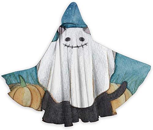 Romance-and-Beauty Halloween Wizard Witch Tnica con Capucha Capa Sudaderas con Capucha de Navidad Cape-Black10-