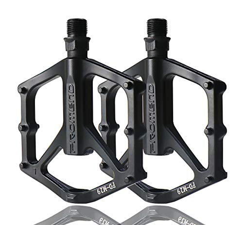 Bicycle Mountain Bike Bicycle Pedals 9/16 Inch Ultralight Aluminium good Lubrication, Double You With Self-lubricating/Shockproof/Dustproof/Maintain, for Universal BMX Mountain Bike Road Hybrid