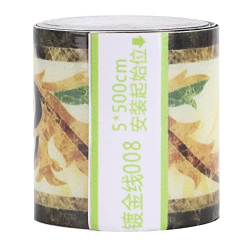 Raguso Borde de Pared Papel Tapiz Autoadhesivo de zócalo Adhesivo Decorativo Impermeable para Techo para Piso de Pasillo de Azulejos de cerámica 5x500cm