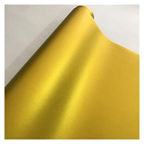 Just like 10/20 / 30/40 / 50x152cm Adhesivo Mate Negro Satinado Metálico Viny Film Coche Lámina Vehículo Etiqueta engomada de Coche Envolver Air (Color Name : Gold, Size : 50cm x 200cm)