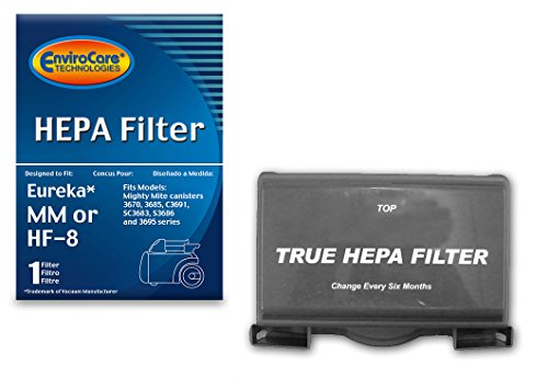 EnviroCare Replacement HEPA Vacuum Cleaner Filter for Eureka Sanitaire HF-8 MM Mighty Mite Pet Lover, 60666B, 60666A, 60666-6, EUR 60295-6 (Packaging May Vary)