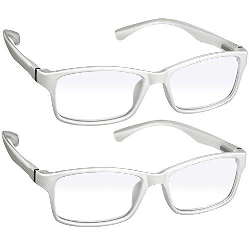 Computer Reading Glasses 9601HP -2- White - 2.00