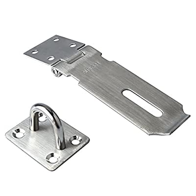 Alise Padlock Hasp Door Clasp Gate Lock SUS 304 Stainless Steel Finish,Silver