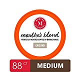 Martha Stewart Coffee Pods By Barrie House, 88 Count | Martha's Blend Medium Roast | Single Serve Capsules Compatible With Keurig K Cup Brewers | Organic & Fair Trade Certified