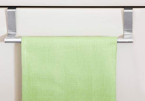 chg Tür-Handtuchstange aus rostfeiem Edelstahl, Silber, 29,5 x 6,5 x 7 cm