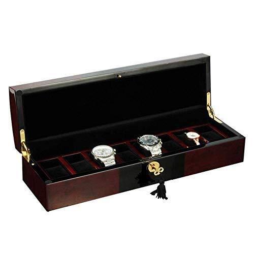 Manyao Reloj de exhibición de la joyería Caja de Almacenamiento 8 Pulsera Mostrar Red Gabinete