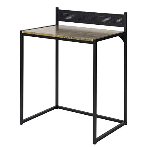 SoBuy FWT66-SCH Mesa de Escritorio, Mesa de Ordenador de Oficina MDF+Metal H90 cm ES