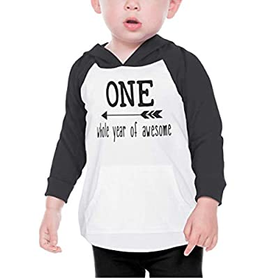 Baby Boy First Birthday Outfit One Year Old Birthday Boy Hoodie (Black 18 Months)