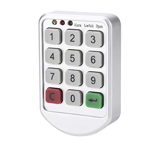 Juego de juego de cerradura electrónica para gabinete, panel de plástico ABS, contraseña inteligente electrónica digital, número de teclado, cerradura de código de puerta de gabinete para gabinetes de