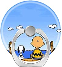 Smart Phone Stand Ring Holder Universal 360 Degree Rotating Finger Grip Kickstand for All Cell Phones Tablets-Generic Cute Cartoon Peanuts Snoopy Non