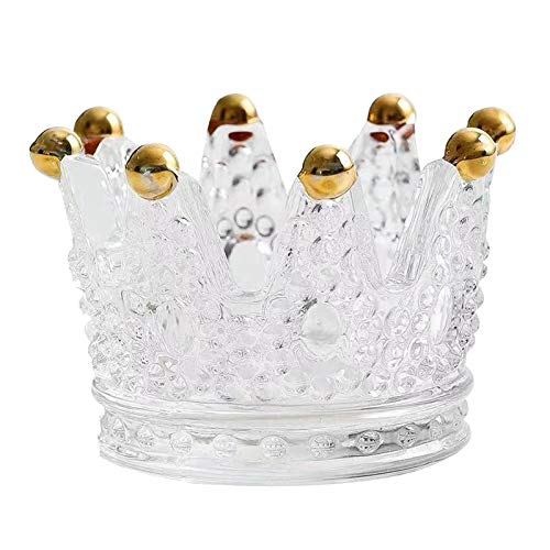 non_brand Decoración de La Boda de La Oficina del Tenedor del Cenicero de La Vela de La Vela Votiva de La Corona de Cristal