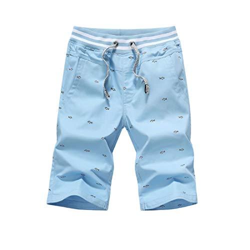Pantalones Cortos de algodón Casual para Hombres Verano nuevos Pantalones Cortos Sueltos de Gran tamaño de Color sólido Pantalones Cortos Casuales para Hombres