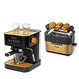 ECODE Pack Cafetera Espresso FORTE TOUCH + Tostadora de Pan FORTE TOASTER. Pack electrodomésticos...