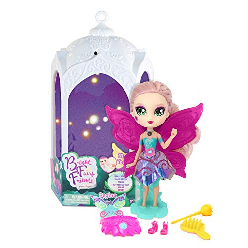 Hada BFF Reina - Muñeca Queen Light Regina con Luces mágicas, Accesorios y Farol | Bright Fairy Friends