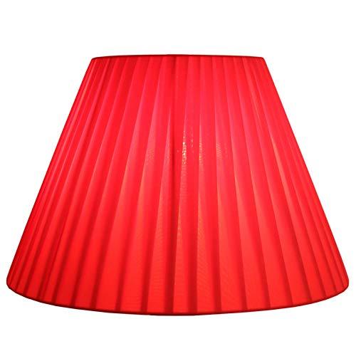 MYMAO Tonos de lámpara de Barril Plisados Rojos, lámparas para la lámpara de Mesa y la luz del Piso, Gasa,50CM