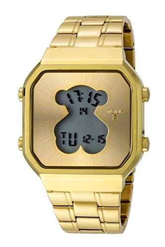 Reloj Tous D-Bear SQ de acero IP dorado Ref:600350285