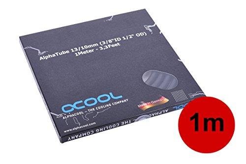 Alphacool 18533 Schlauch AlphaTube HF 13/10 (3/8' ID) - UV Schwarz 1m (3,3ft) Retailbox Wasserkühlung Schläuche
