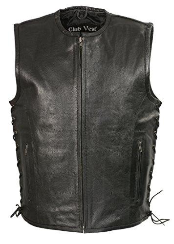 Club Vest Men's Mesh Racing Jacket with Armor (Black, 7X)
