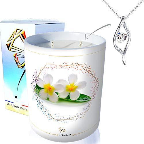 AG Artgosse - Vela con diseño de monoï de Tahití, cristal de Swarovski Elements, para mujer, caja de regalo de cumpleaños y fiesta