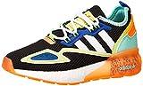 adidas ZX 2K Boost J, Zapatillas Deportivas, Core Black FTWR White Screaming Orange, 37 1/3 EU