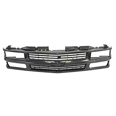 Perfit Liner New Front Black Grille Grill Replacement Compatible With CHEVROLET 94-98 C/K 1500 2500 3500 Pickup Truck Blazer Tahoe SUV Fits With Composite Head Lamp Type GM1200239 15981092