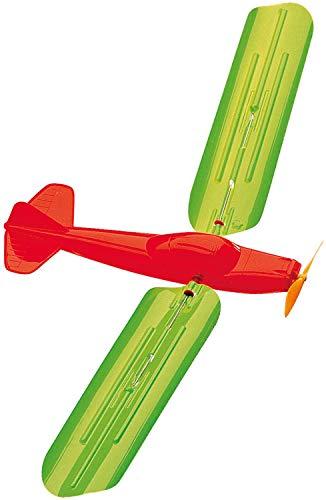 Paul Günther 1331 - Drachenspiel Turboprop, Drachen in Flugzeug-Form mit 100 m Drachenschnur, rotierende Flügel, fliegt wie ein Drachen im Wind, ca. 48 x 21 cm