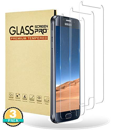 RIIMUHIR Panzerglas für Galaxy S6,9H Härte/HD Klar/Anti-Bläschen Anti-Fingerabdruck/Panzerfolie Displayschutzfolie,Gehärtetem Glas Panzerglasfolie für Samsung Galaxy S6-3 Stück