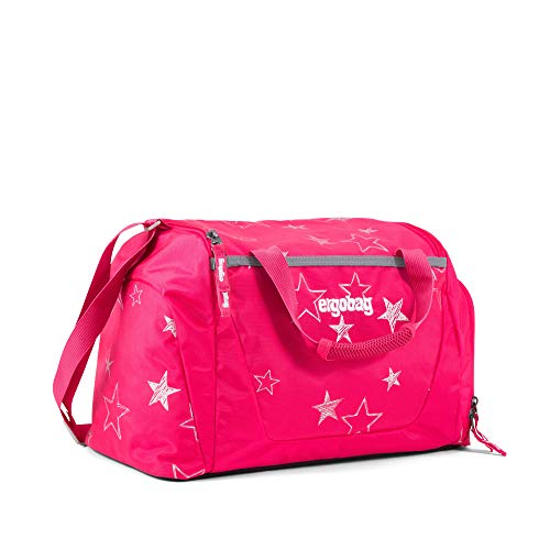 ergobag Sporttasche CinBärella, wasserdichtes Seitenfach, Tragegriffe und Umhängegurt, 20 Liter, 500 g, Pinke Sterne