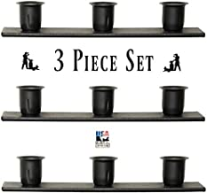 product image for Saving Shepherd 3 Window Sill Triple Candle Holder Set - Wrought Iron Metal Taper Candlestick Country Stands by Amish Blacksmith Lancaster Pennsylvania USA