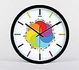 YLCJ Einfache Digitaluhr Einzelzimmer Klassische Uhr Kreativer Weckermodus Stummschaltung Quarzuhr Quarz Art Lounge (Schwarz Größe: 12)