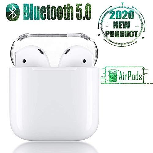Auriculares Bluetooth 5.0, Auriculares inalámbricos de Control táctil, micrófono Incorporado y Caja de Carga, reducción de Ruido estéreo 3D HD, para Auriculares Apple Airpods Android/iPhone/Samsung