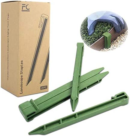 UFUNCASE Garden Stakes Green 20pc 10 Inch Plastic Landscape Edging Stakes Fits Most Brands Garden product image