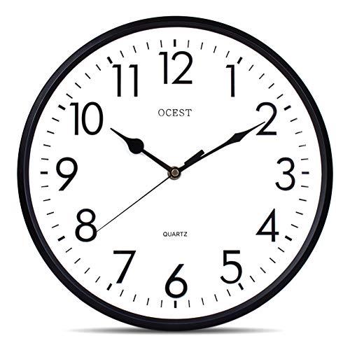 OCEST 13 Inch Silent Quartz Decorative Wall Clock