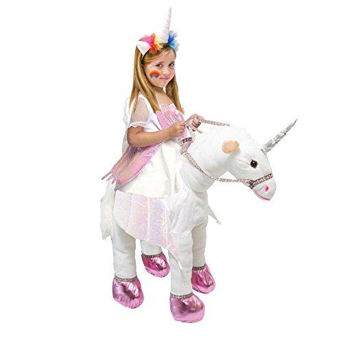 Kids Ride On Costume Unicorn T-Rex Horse Animal Halloween Party Cosplay (Unicorn, 4-6 Year)