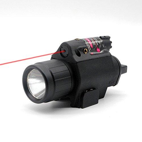 Trirock Lampe torche LED avec interrupteur pression et rail Picatinny 20 mm (rouge)