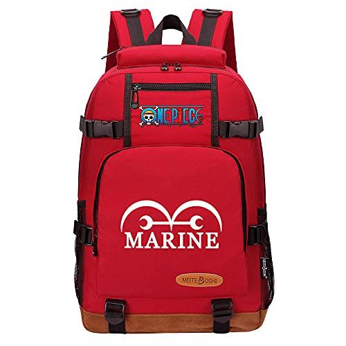 CXWLK Mochila para Negocios para Hombres Y Mujeres para Viajes Escolares De Trabajo para Acampar Daypacks Mochila De Gran Capacidad,One Piece,Red,46cmX29cmX13cm
